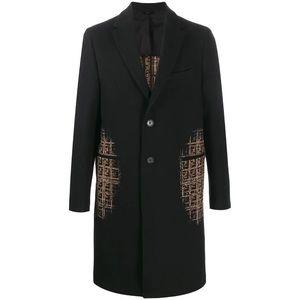 Authentic Fendi wool coat shaded logos size 50